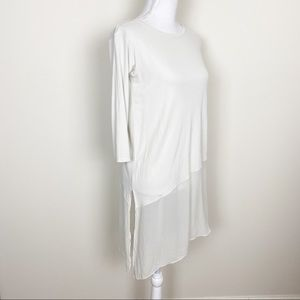 Eileen fisher ivory silk chiffon tunic